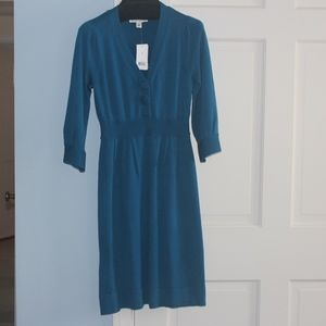 NWT Banana Republic V-Neck Teal Dress